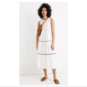 MADEWELL | White Rick Rack Boho Tier Dress Large